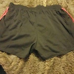 Shorts - Neon orangey pink workout shorts